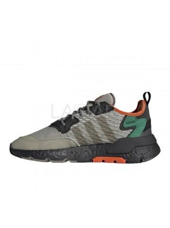 Adidas Nite Jogger Sesame Black Bold Green EE5569