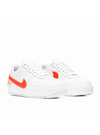 Nike Air Force 1 Jester Trainers White Hyper Crimson CN0139-100
