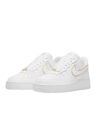 Nike Air Force 1 Low Icon Clash White Metallic Gold AO2132-102
