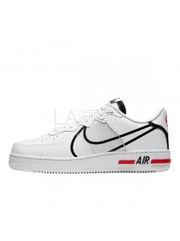 Nike Air Force 1 React White Black Red CD4366-100