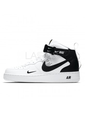 Nike Air Force 1 07 Mid LV8 Utility White Black 804609-103