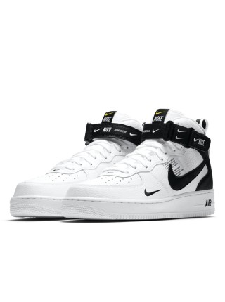 Nike Air Force 1 07 Mid LV8 Utility White Black 804609-103