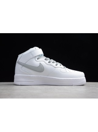 Nike Air Force 1 '07 Mid White Silver Reflective Light 366731-606
