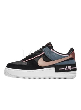 Nike Air Force 1 Shadow Black Light Arctic Pink Claystone Red CU5315-001