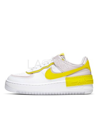 Nike Air Force 1 Shadow White Barely Rose Speed Yellow CJ1641-102