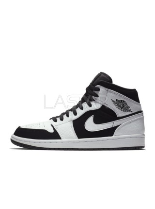 Jordan 1 Mid White Black 554724-113
