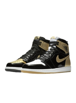 Jordan 1 Retro High NRG Patent Gold Toe 861428-007