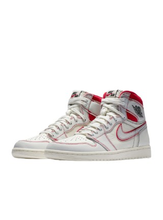 Jordan 1 Retro High Phantom Gym Red 555088-160