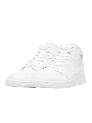 Jordan 1 Retro Mid Triple White 554724-109