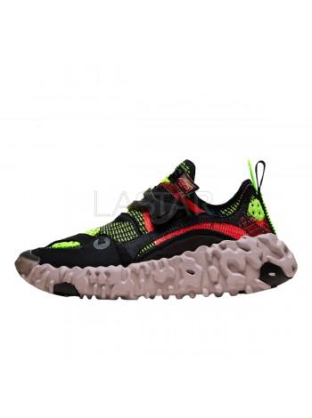 Nike ISPA OverReact FlyKnit Black Red Volt CD9664-001