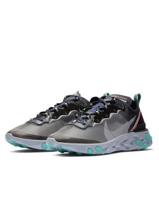 Nike React Element 87 Black Neptune Green AQ1090-005