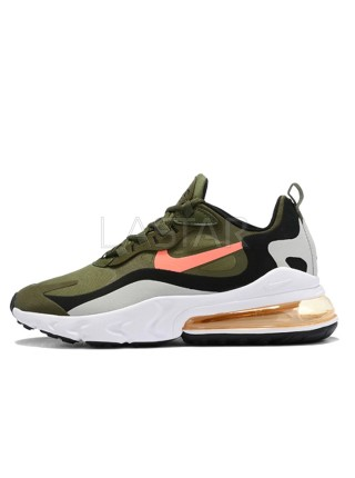 Nike Air Max 270 React Olive Black Orange White