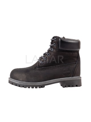 Timberland Classic Premium 6-Inch Boots In Black and Gray (С МЕХОМ)