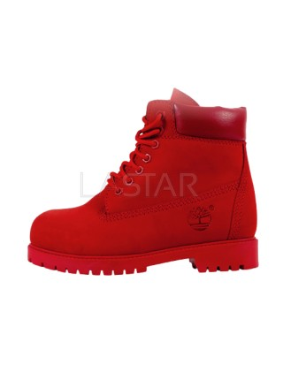 Timberland Classic Premium 6-Inch Boots In Red (С МЕХОМ)