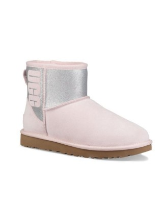UGG Classic Mini Sparkle Seashell Pink