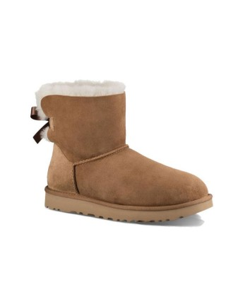 UGG Classic Mini Bailey Bow Chestnut