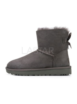 UGG Classic Mini Bailey Bow Grey