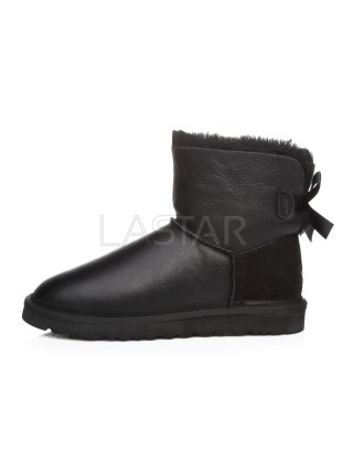 UGG Classic Mini Bailey Bow Leather Black