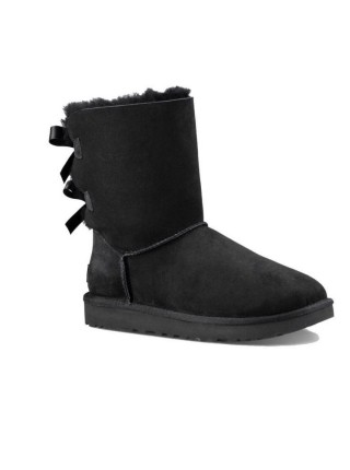 UGG Classic Short Bailey Bow Boot Black