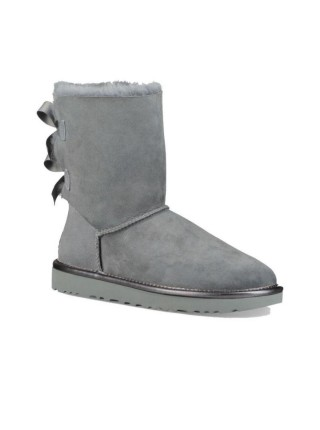UGG Classic Short Bailey Bow Boot Grey