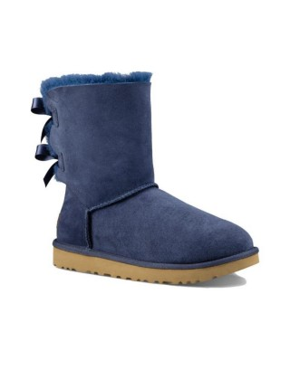 UGG Classic Short Bailey Bow Boot Navy