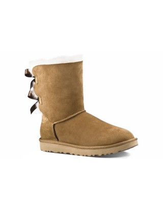 UGG Classic Short Bailey Bow Boot Chestnut