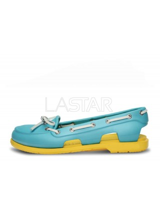 CROCS Beach Line Boat Blue Yellow W