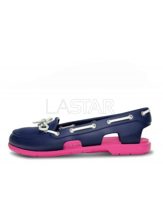 CROCS Beach Line Boat Purple Pink W