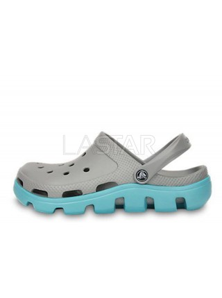 CROCS Duet Sport Clog Grey Light Blue W