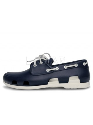 CROCS Beach Line Boat Dark Blue White M