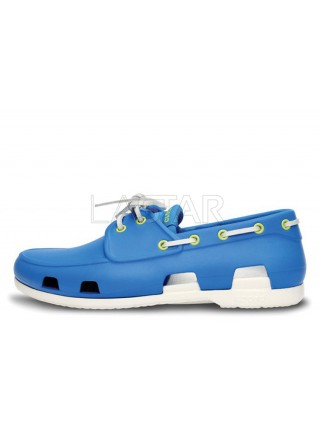 CROCS Beach Line Boat Blue White M