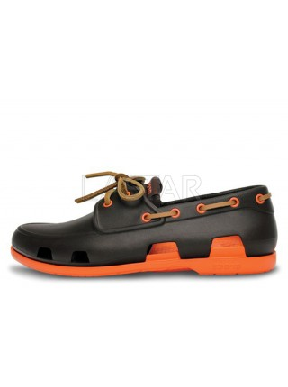 CROCS Beach Line Boat Brown Orange M