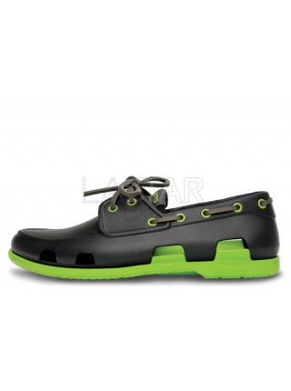 CROCS Beach Line Boat Dark Grey Green M