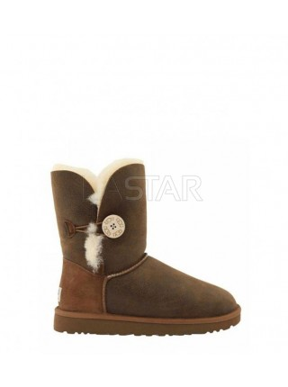 UGG Classic Short Bailey Button Bomber Chocolate
