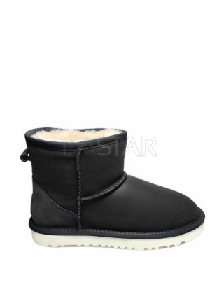UGG Classic Mini Leather Navy W