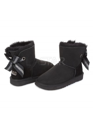 UGG Classic Mini Bailey Bow Customizable Black