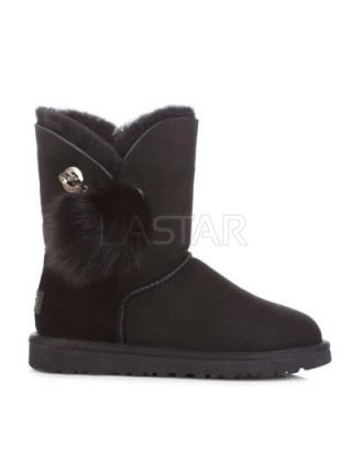 UGG Classic Short Bailey Bow Boot Irina Black