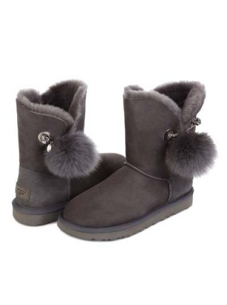 UGG Classic Short Bailey Bow Boot Irina Grey