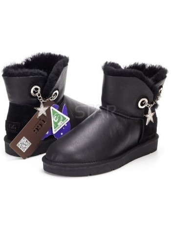 UGG AUS 1978 Classic Mini Stars Leather