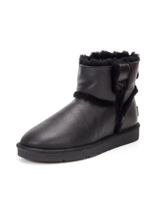 UGG AUS 1978 Classic Mini Metallic Black