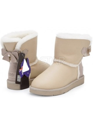 UGG AUS 1978 Classic Mini Bailey Bow Sand