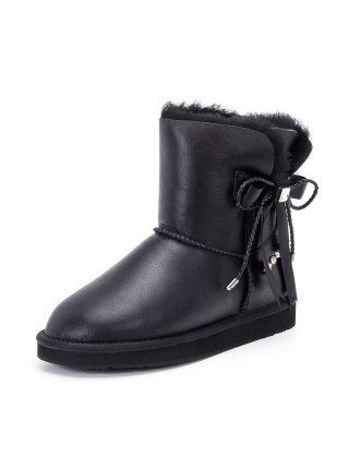 UGG Classic Mini Bailey Braid Metallic Black